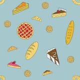 Modèle de boulangerie illustration libre de droits