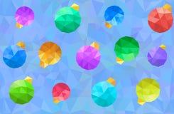 Modèle de boules de Noël Image stock