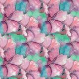 Modèle de bouquet floral d'aquarelle de branche de fleur de Sacura illustration stock