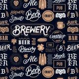 Modèle de brasserie de bière Photos libres de droits