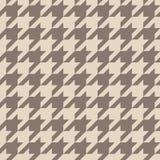 Modèle de brun de vecteur de pied-de-poule ou fond sans couture de tuile Image stock