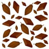 Modèle de cacao et de chocolat illustration de vecteur