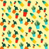 Modèle de cactus, style plat illustration libre de droits