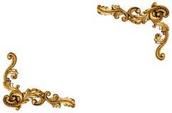 Modèle de cadre en métal d'or image libre de droits
