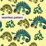 Modèle de caméléon photo stock