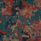 Modèle de camouflage coloré par résumé Fond futuriste de composition Concept de labyrinthe rendu 3d Illustration Stock