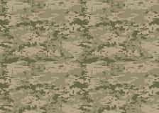 Modèle de camouflage de Digital Texture de camo de région boisée Camouflage p illustration libre de droits