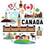 Modèle de Canada Images stock