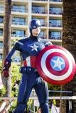 Modèle de capitaine America photographie stock libre de droits