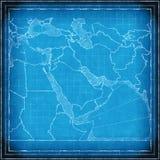 Modèle de carte de Moyen-Orient illustration stock