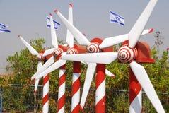 Modèle de centrale d'énergie éolienne Images stock