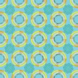 modèle de cercle avec l'ornement illustration stock