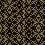 Modèle de cercle d'or illustration de vecteur