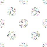 Modèle de cercles dans des couleurs de tendance de mode Photographie stock