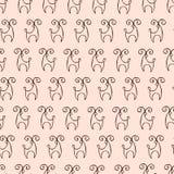 Modèle de cerfs communs images stock