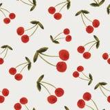 Modèle de cerises d'automne illustration stock