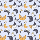 Modèle de chatons illustration libre de droits