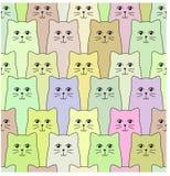 Modèle de chats image stock