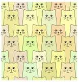 Modèle de chats Photos stock