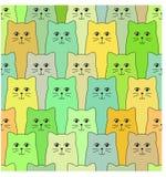 Modèle de chats Photo libre de droits