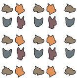 Modèle de chats de vecteur Photographie stock libre de droits