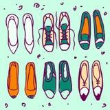 Modèle de chaussures Image libre de droits