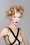 Modèle de cheveu de mode de salon Image libre de droits