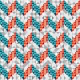 Modèle de Chevron dans le style géométrique Photos libres de droits
