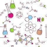 Modèle de chimie d'aspiration de main illustration de vecteur
