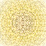 Modèle de circulaire d'or Photographie stock