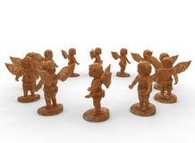 Modèle de circulaire de statues d'angle illustration stock