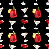 Modèle de cocktail illustration de vecteur