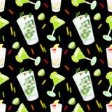 Modèle de cocktail illustration stock