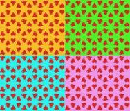 Modèle de coeur coloré gai Photo stock