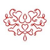 Modèle de coeur de jour de valentines Photographie stock libre de droits