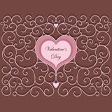 Modèle de coeur de vintage Image libre de droits