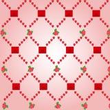 Modèle de coeur, fond avec des coeurs Illustration de Vecteur