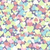 Modèle de coeurs coloré par pastel Image stock