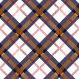 Modèle de contrôle de plaid dans l'orange, bleu, rouge, noire et blanche Texture sans couture de tissu pour l'impression de tissu illustration de vecteur