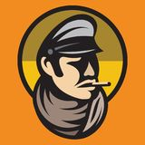 Modèle de couleur d'un homme comme escroc, aventurier, bandit, monsieur Image stock