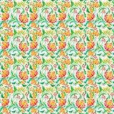 modèle de couleur de Floral-herbe grand Photos stock