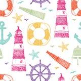 Modèle de couleur de mer illustration libre de droits