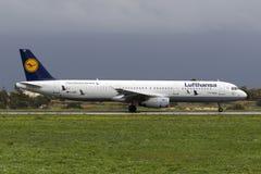 Modèle de couleurs spécial Lufthansa A321 Image libre de droits