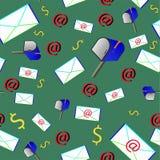 Modèle de courrier, illustration de vecteur illustration libre de droits