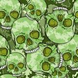 Modèle de crâne de camouflage. illustration stock