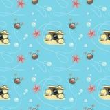 Modèle de crabes et d'étoiles de mer Photos stock