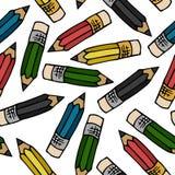Modèle de crayons Photo stock