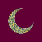 Modèle de Crescent Arab Illustration pour l'eid Mubarak Ramadan ISL Photo stock