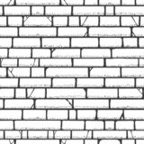 Modèle de croquis de mur de briques illustration de vecteur