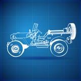 Modèle de cru de jeep américaine Images stock
